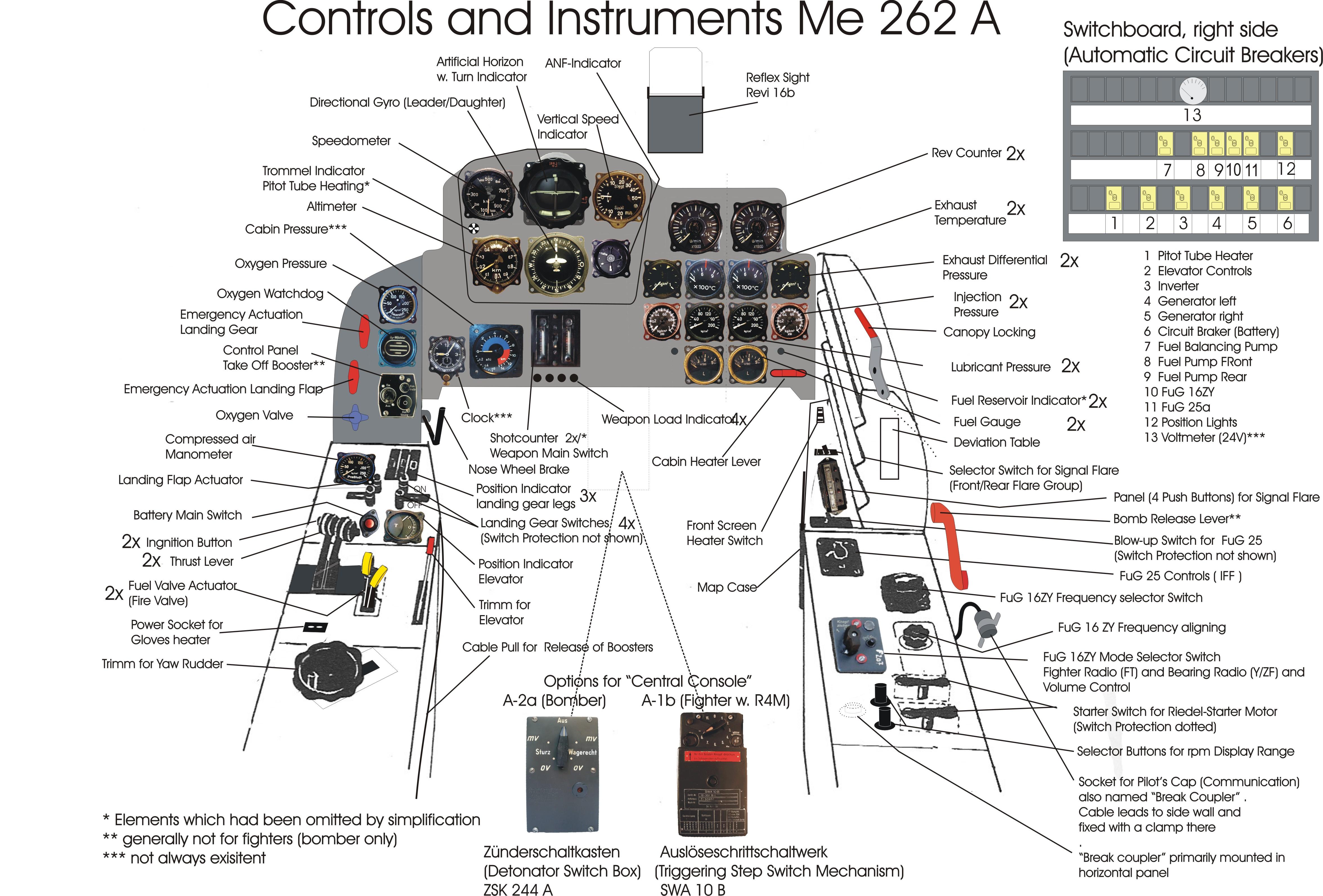 me 262 cockpit coloring pages - photo#31